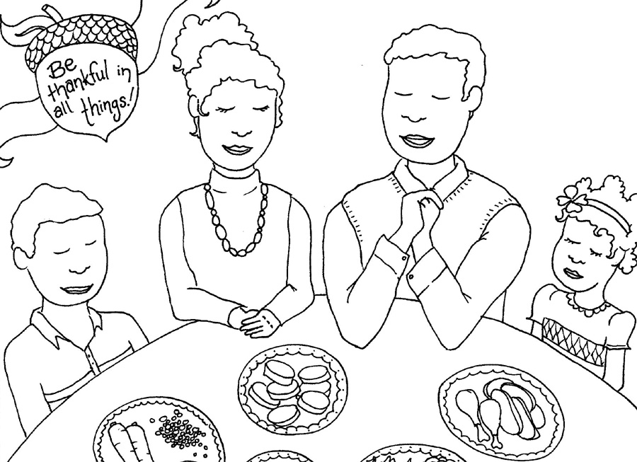 Christian Coloring Pages For Thanksgiving