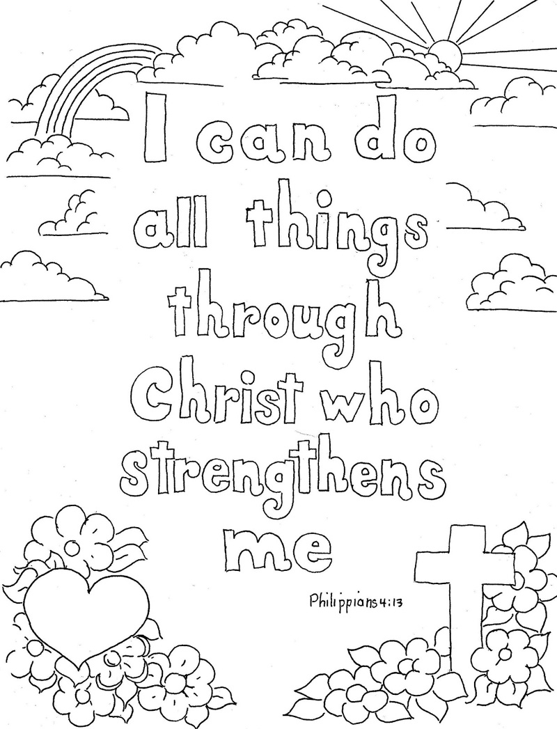 Christian Coloring Pages For Youth