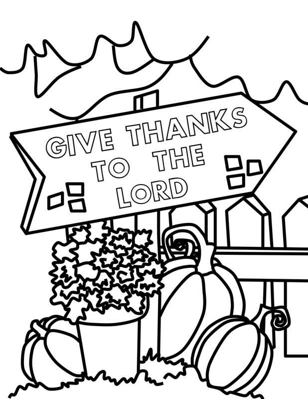 Happy thanksgiving coloring pages for kids for Christian thanksgiving coloring pages for kids