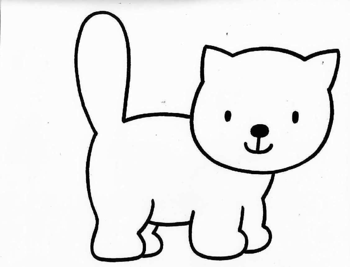 Cat Coloring Pages Easy Coloring Pages