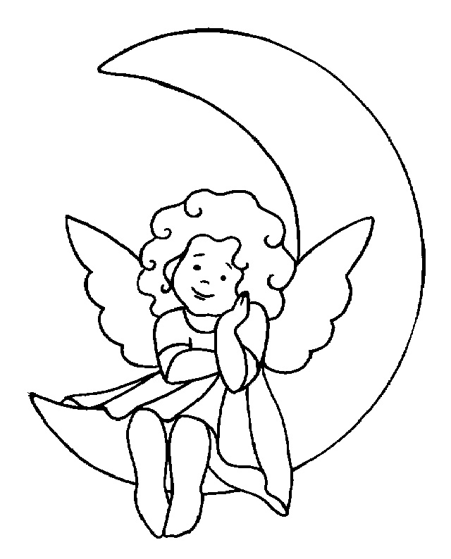 cute angels coloring pages - photo#4