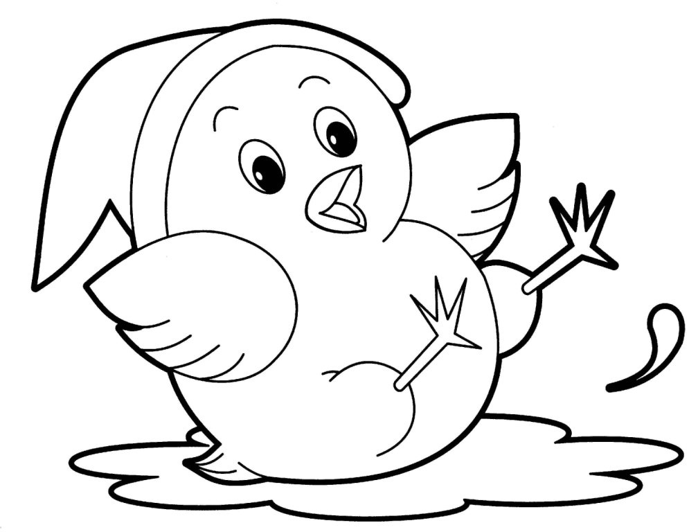 simple jungle animal coloring pages - photo#29