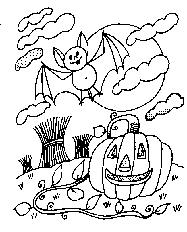 cute halloween coloring pages - Cute Halloween Coloring Pages