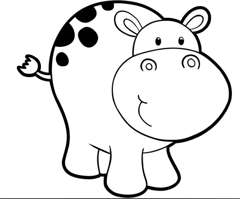 cute hippo coloring pages baby hippo coloring page
