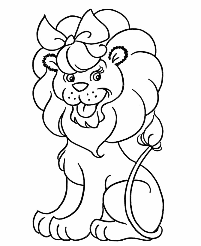 Cute Lion Coloring Pages