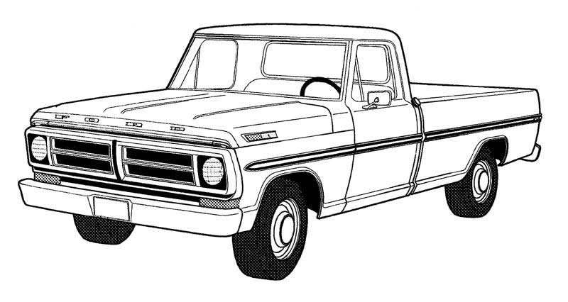 dodge truck coloring pages - Coloring Pages Of Trucks