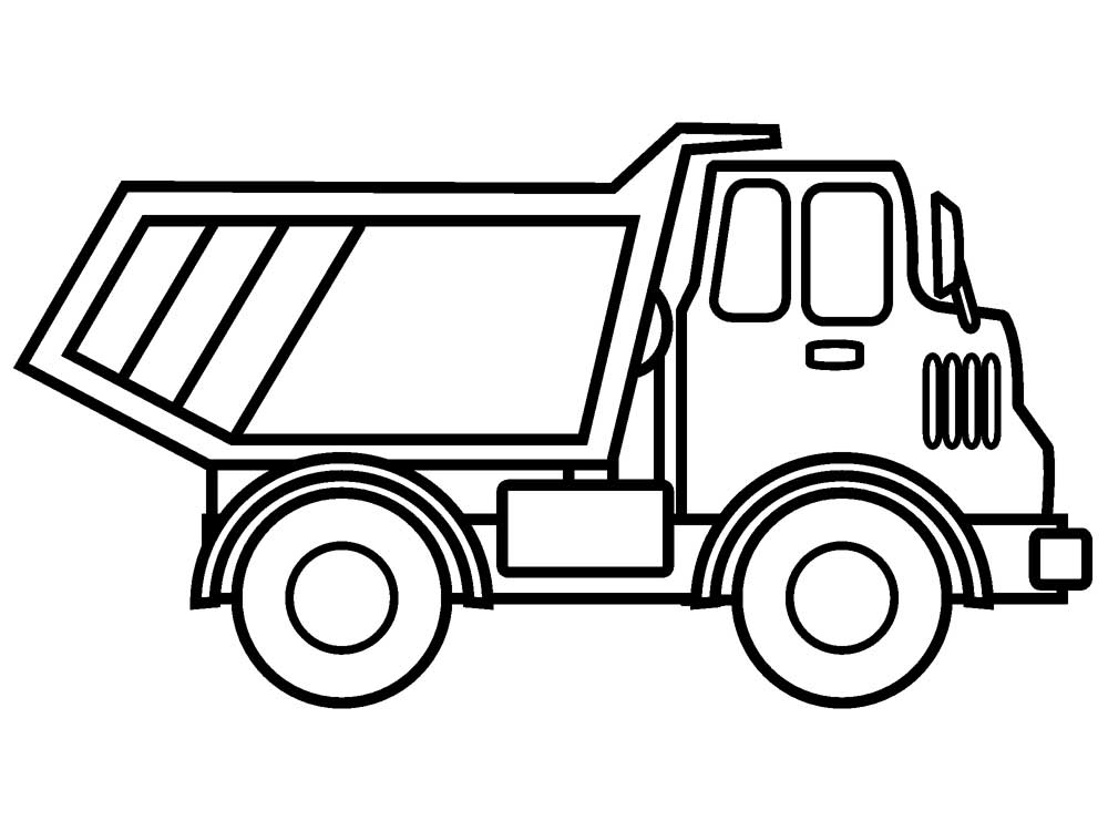 Lucrative image in printable truck coloring page