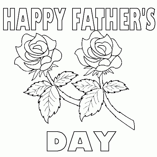 Fathers Day Card Coloring Pages