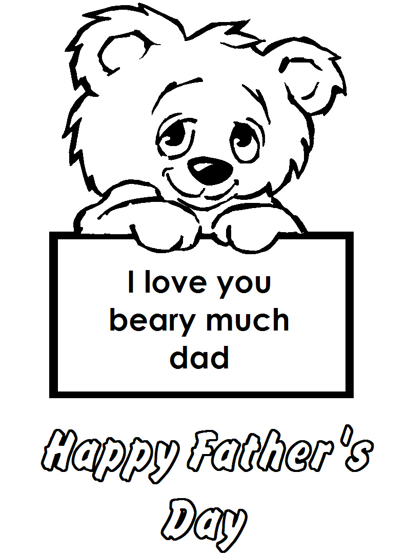 fathers day card coloring pages - photo#17