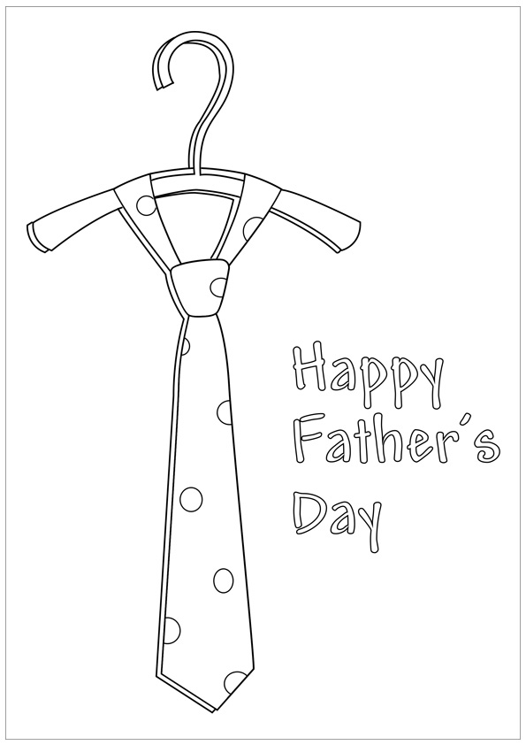 fathers day tie coloring pages - photo#16