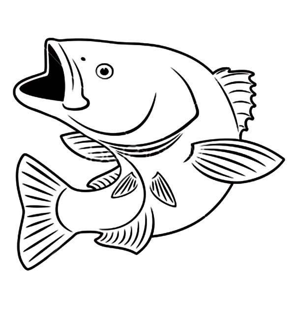 fish mouth template - fish coloring pages free download