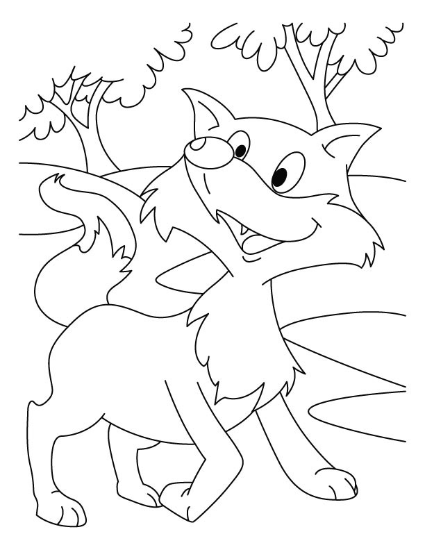 Fox Coloring Pages For Preschoolers