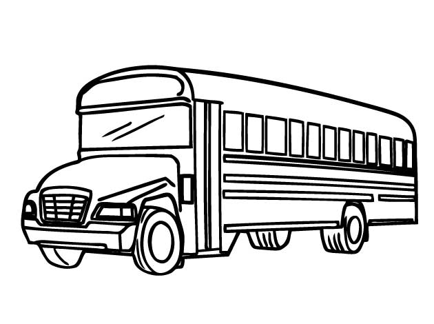 Free Printable School Bus Coloring Page
