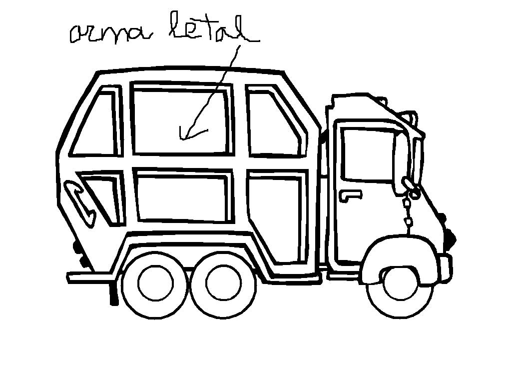 P 40 coloring pages - Garbage Truck Coloring Pages