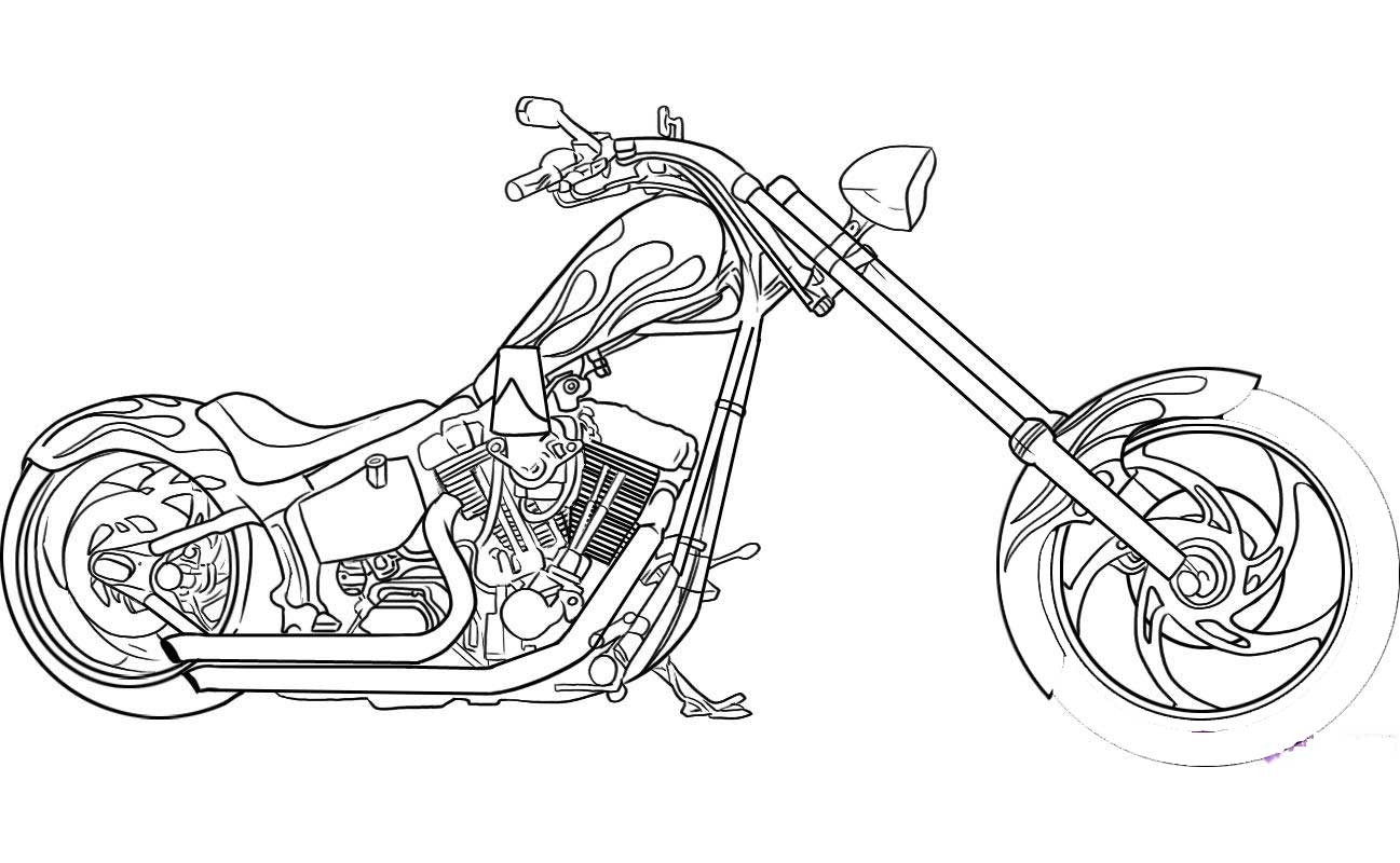 ghost rider motorcycle coloring pages