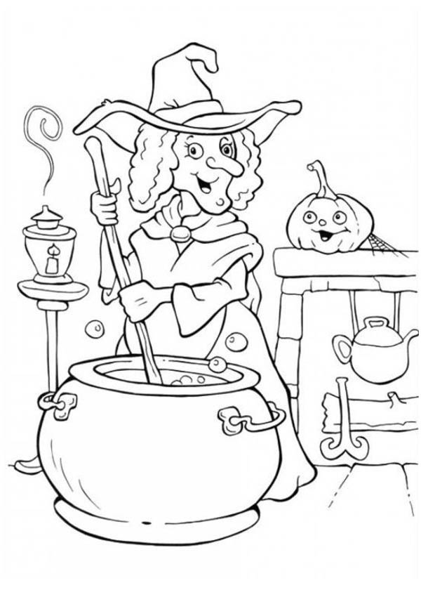 Halloween coloring pages free to download for Coloring pages of witches