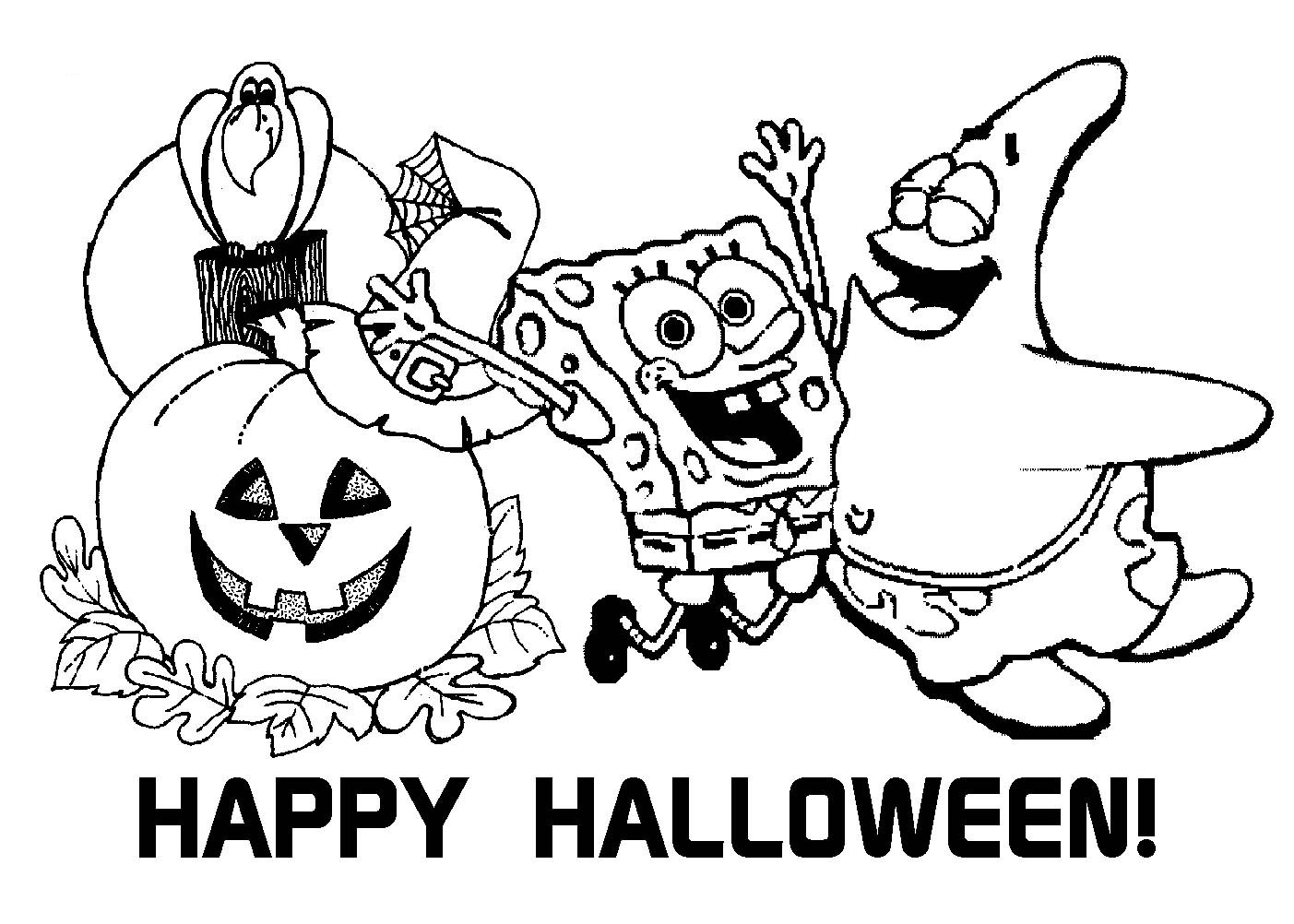 Halloween Coloring Pages for Children