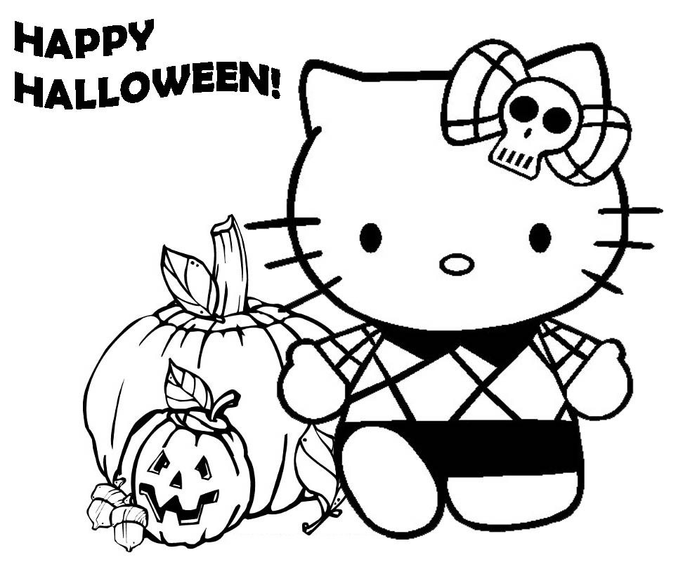 Halloween Coloring Pages for Preschooler