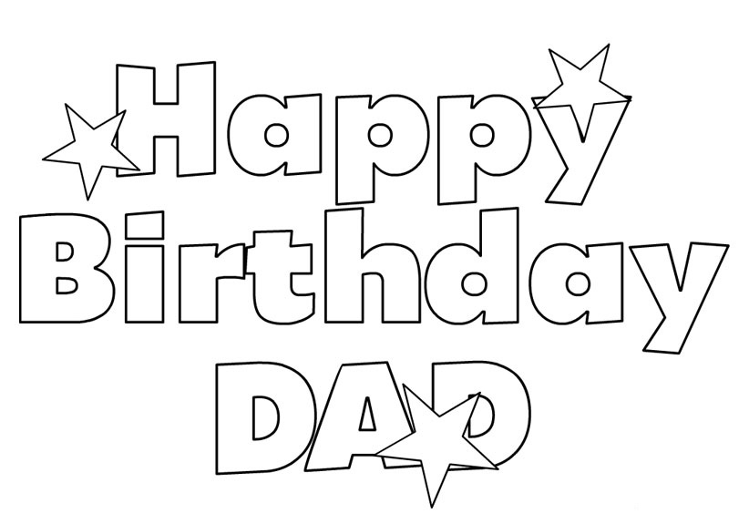 Happy Birthday Dad Coloring Pages