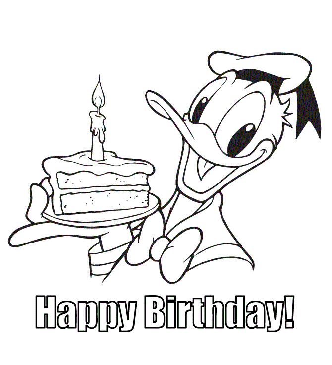 Happy Birthday Disney Coloring Pages