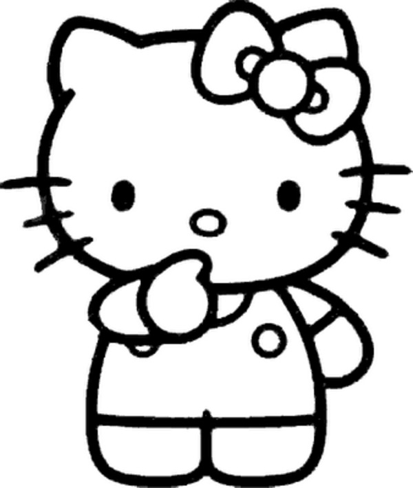 Hello Kitty Body Coloring Pages