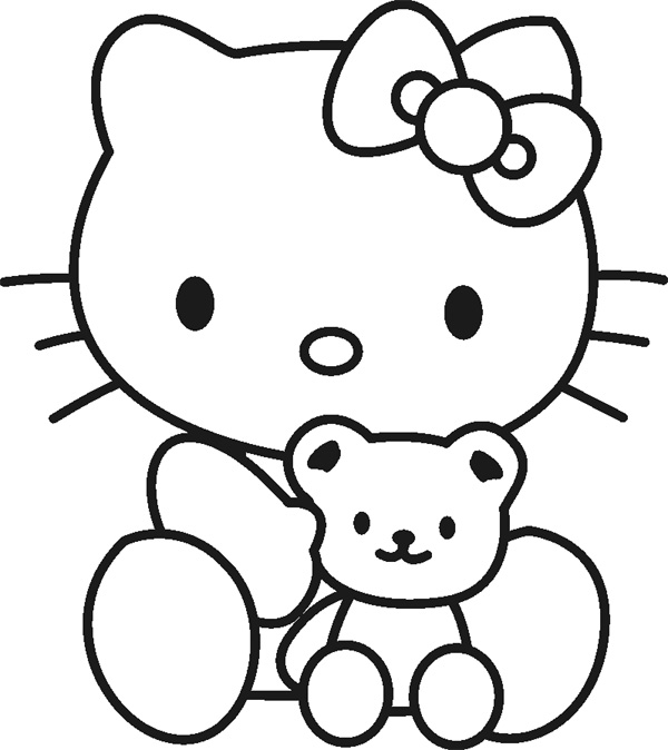 Top 30 hello kitty coloring pages to print for Hello kitty princess coloring page