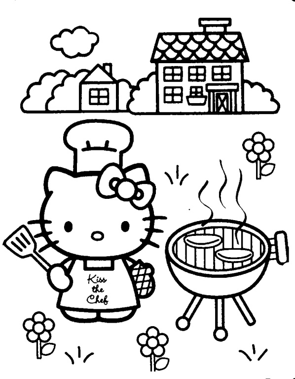 Chef Coloring Pages Okids