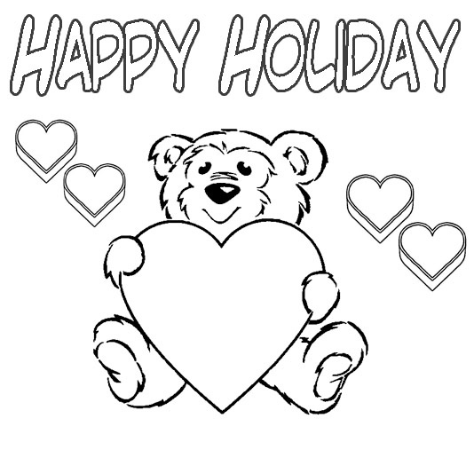 coloring pages for holiday - photo#18