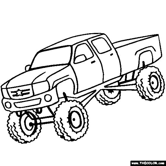 Jacked Up Truck Coloring Pages