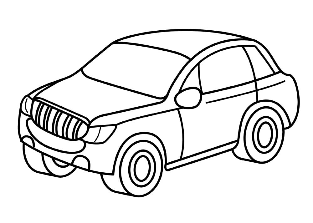 Jeep Car Coloring Pages