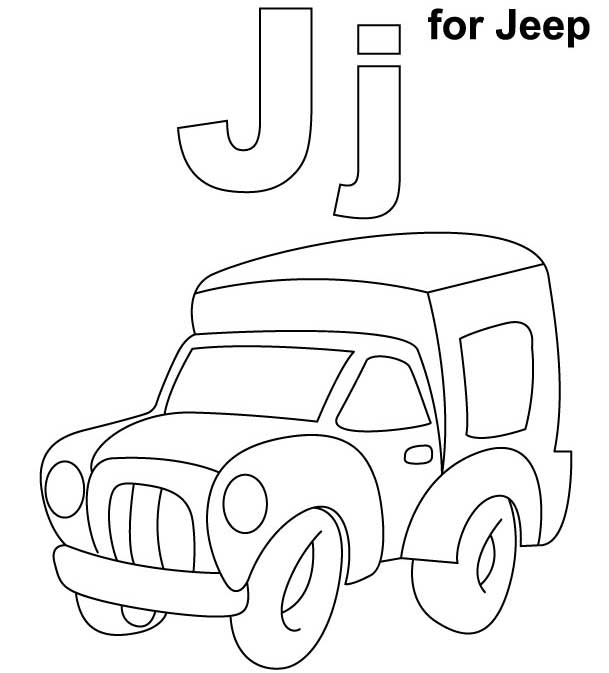 Jeep Coloring Pages Free