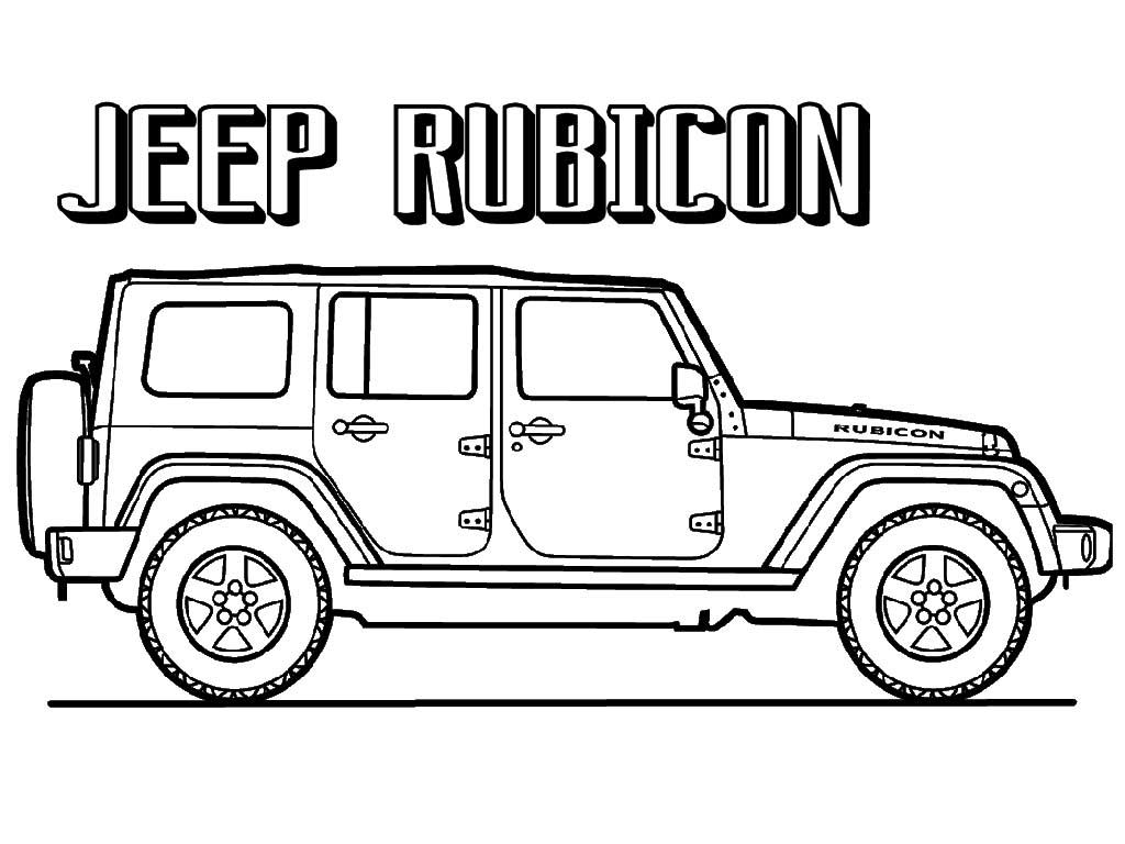 Jeep Coloring Pages Printable