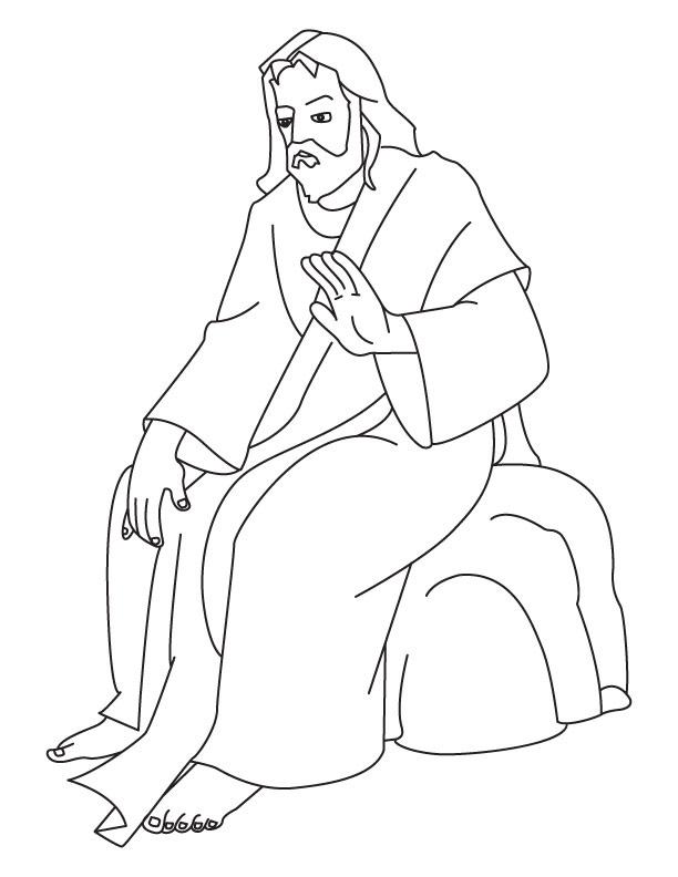 God Jesus Coloring Pages Free And Jesus Coloring Pages