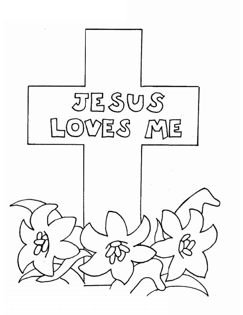 God Jesus Coloring Pages Free