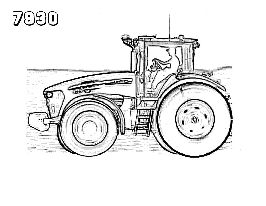 Kubota Tractor Coloring Pages