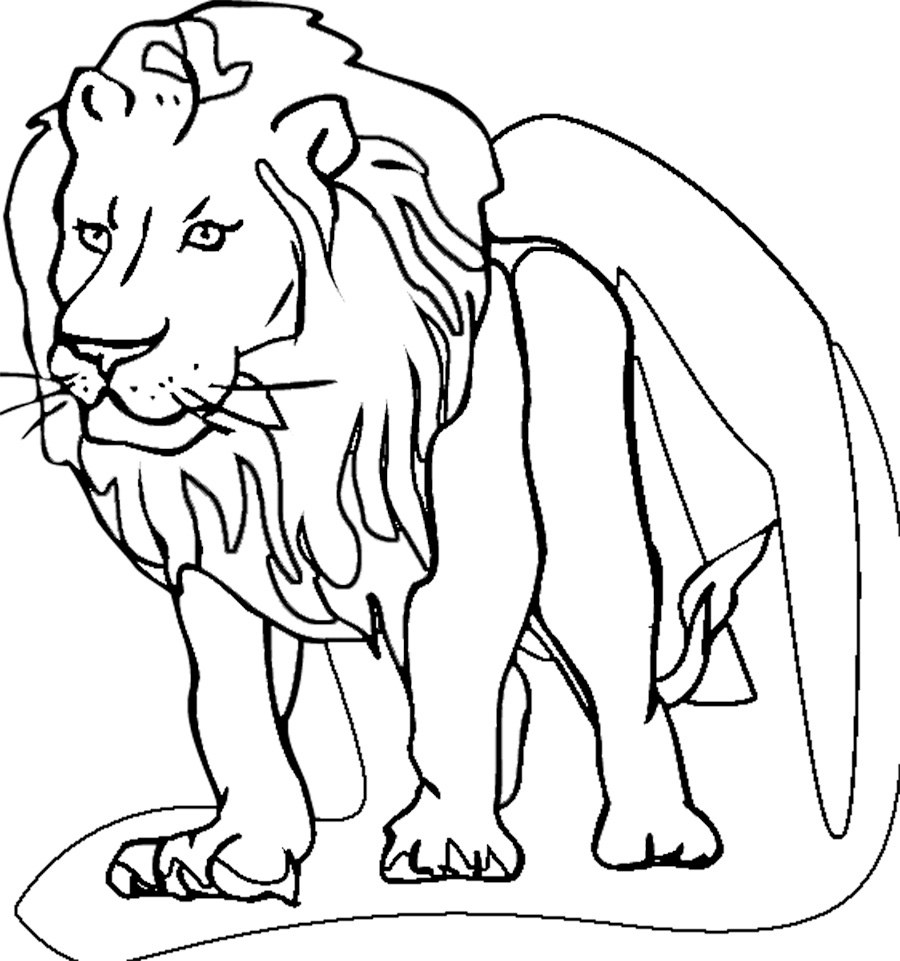 Lion Coloring Pages Download