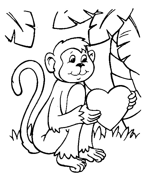 monkey coloring pages newburyportskatepark com