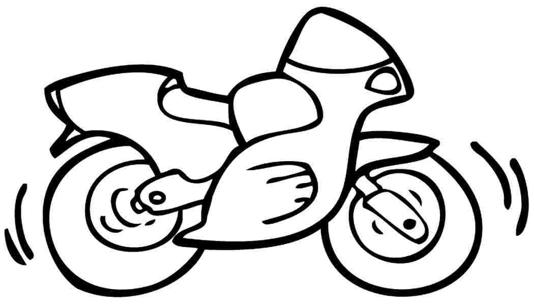 Printable Motorcycle Coloring Pages For Preschoolers