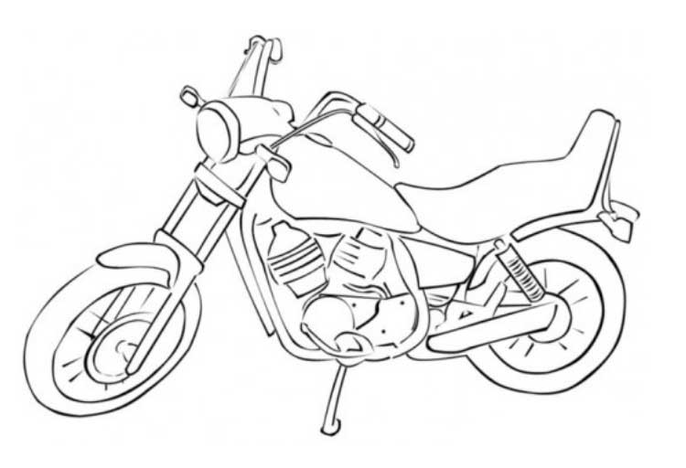motorcycle coloring pages free printable