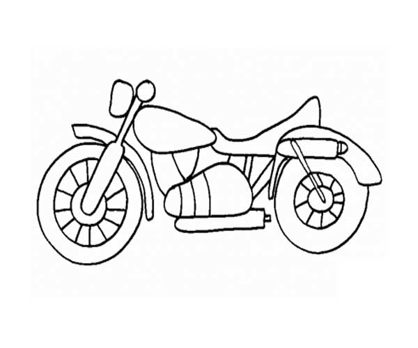 Motorcycle Coloring Pages Harley Davidson