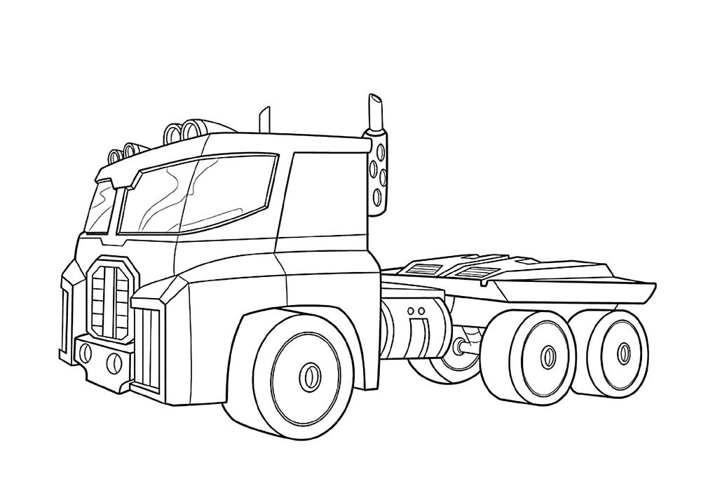 Optimus Prime Truck Coloring Pages