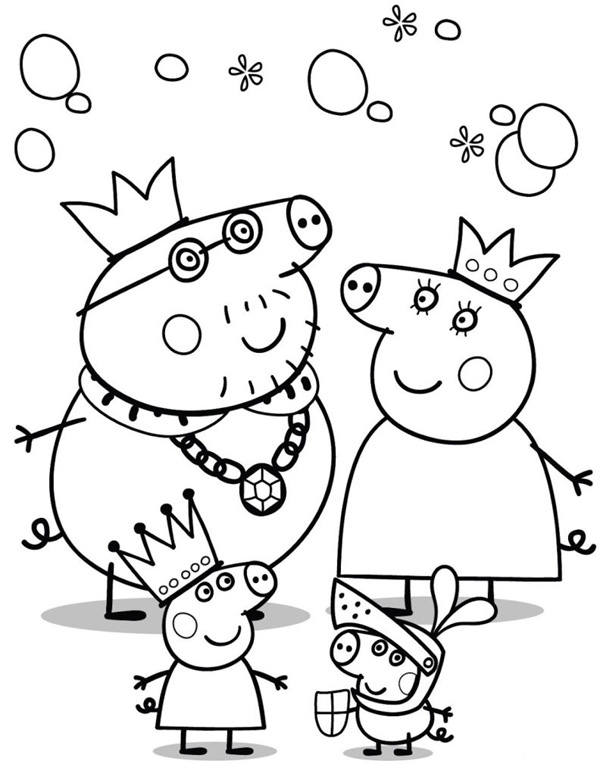 peppa pig coloring pages birthday balloon | Peppa Pig Coloring Pages and Sheets