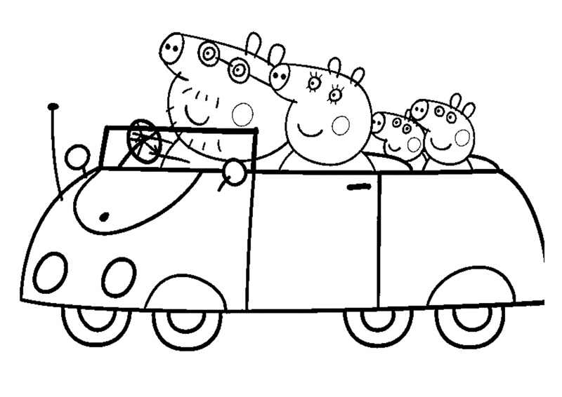 winter clothing coloring pages peppa pig with balloons