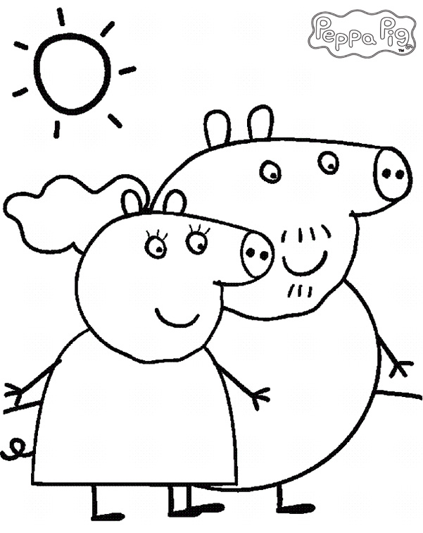 Peppa pig coloring pages and sheets for Coloring pages peppa pig