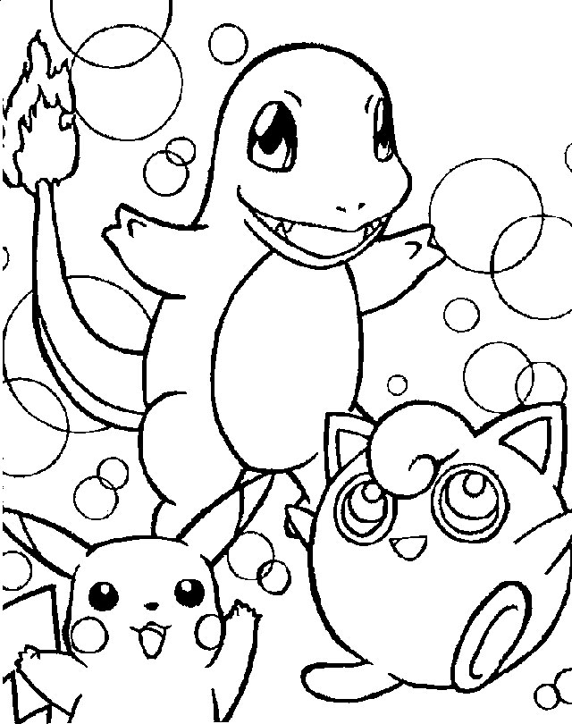 Pokemon Coloring Pages Charmander