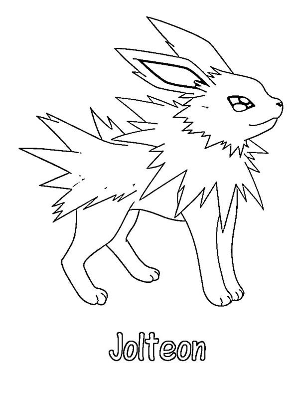 Pokemon Coloring Pages Jolteon