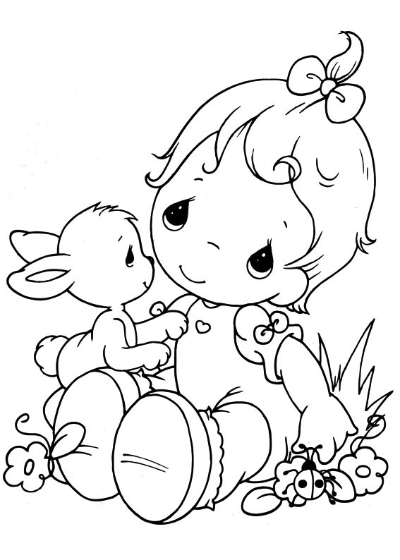 Easy Printable Precious Moments Coloring Pages