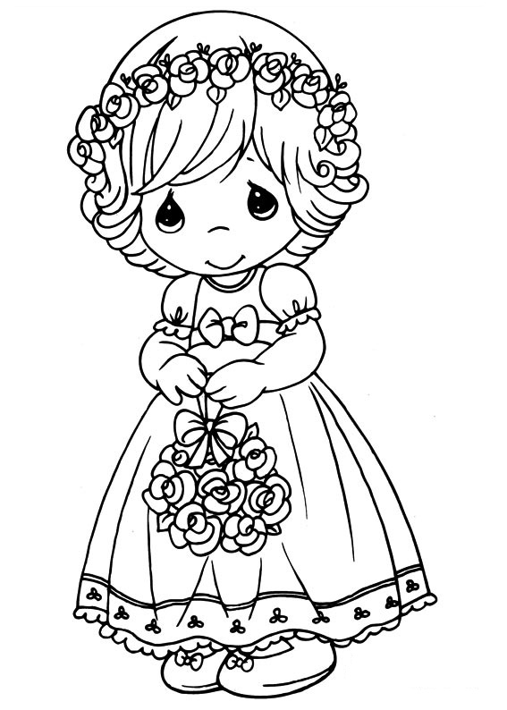 Easy printable precious moments coloring pages for Coloring pages precious moments print