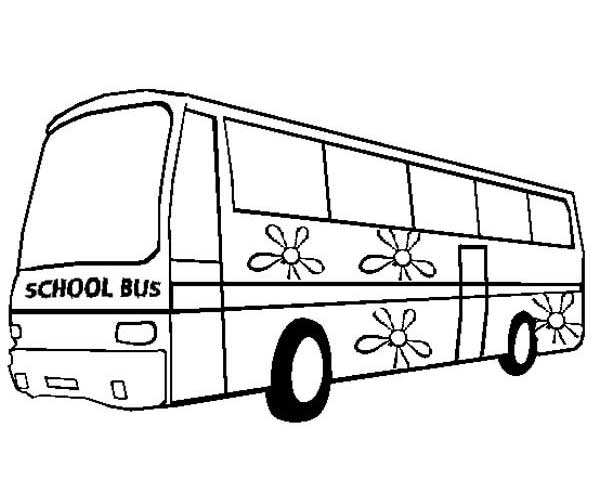 School Bus Coloring Page Free