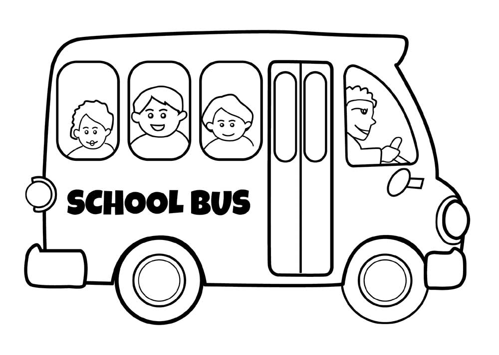 Printable school bus coloring page for free for School bus coloring page to print